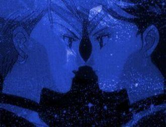 Uranus and Neptune with blue faces
