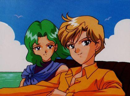 Michiru and Haruka in a car