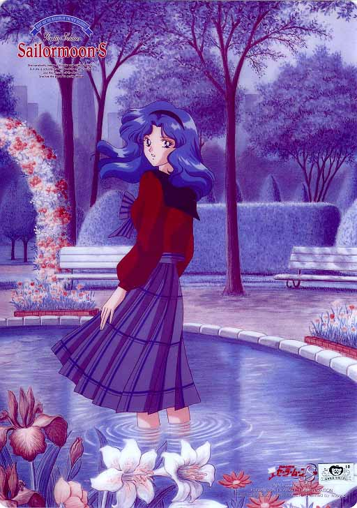 Michiru in a pond