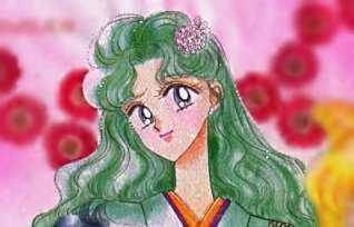 Michiru in a kimono